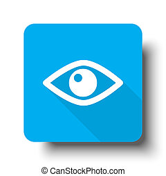 White Eye icon on blue web button
