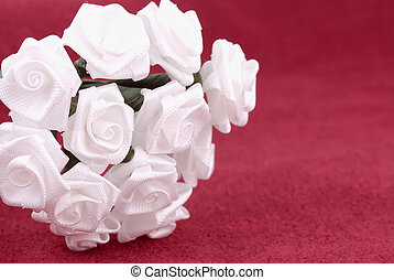 Fabric Flowers - White Fabric Flowers
