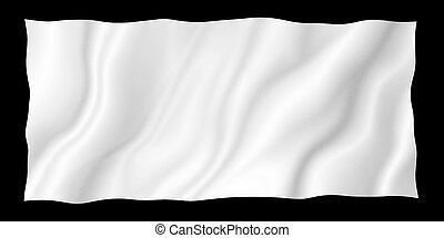 White fabric isolated on black background with copy space