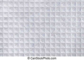 White fabric texture with checkered mesh embossing. Abstract...