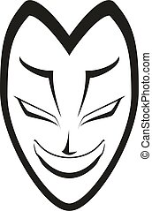 white face mask illustration