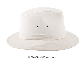 white fashion hat for safari