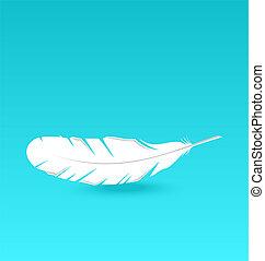 White feather falling - Illustration white feather falling...