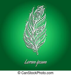 White feather vector illustration