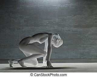 White female figure