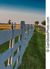 White Fence at Sunset