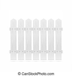 White fence tile isolated vector illustration