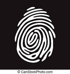 white finger print