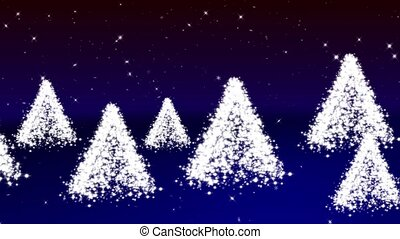 White fir-trees - New Year white trees