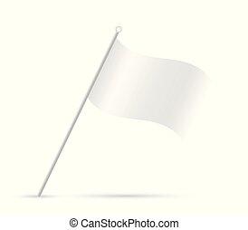 White Flag Illustration