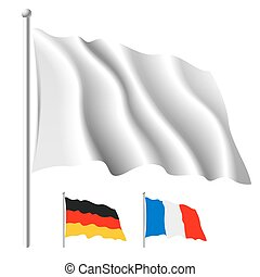 White flag template - In vector illustration flag contents ...