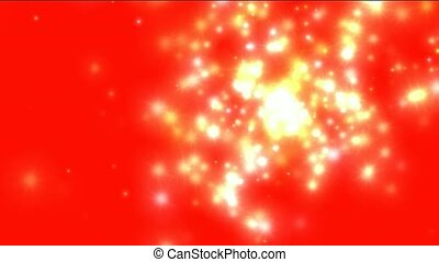 white flare particles flicker