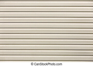 White flat horizontal surface texture. Vinyl plastic planks, boards siding, copy space background.
