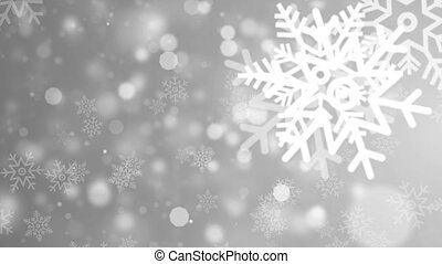 Flickering snowflake Particles, random motion of particles. ...