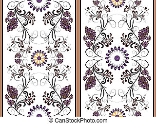 White floral seamless pattern