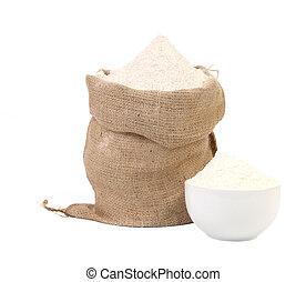 White flour.