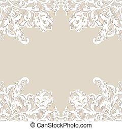 White flower frame. - White flower frame, lace flower...