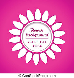 white flower on pink background