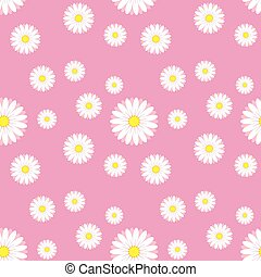 Floral pink flower on white background illustration white flower on pink background mightylinksfo