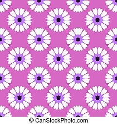 White flower on purple background