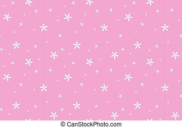 white flowers on pastel pink background