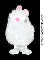 White Fluffy Bunny Toy
