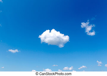 White fluffy cloud blue sky