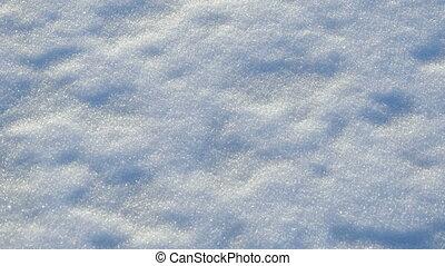 white fluffy shiny snow background panorama