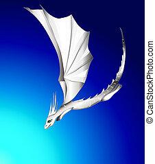 white flying dragon