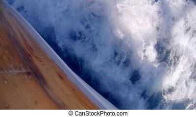 White foam behind the boat. Malta