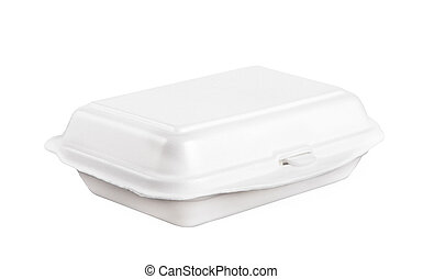 white foam box isolated on white use for multipurpose