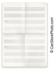 White Folded Music Notes Paper
