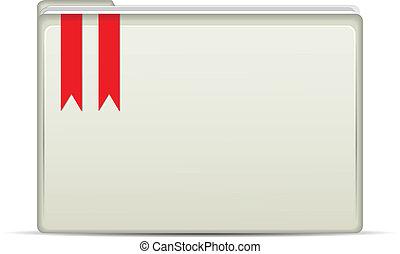 White Folder Icon