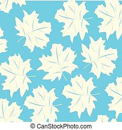White foliage on turn blue background