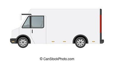 blank food truck template