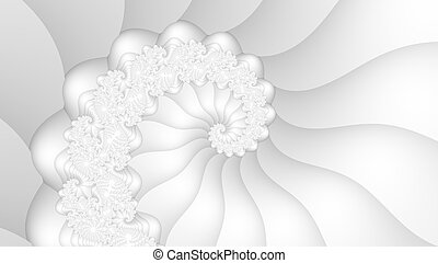 White fractal spiral background