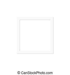 White frame background