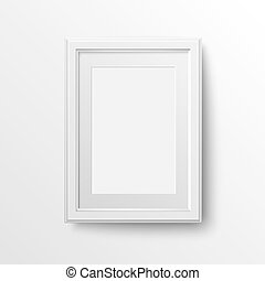 White frame for photos. - A3 and A4 vertical blank picture...