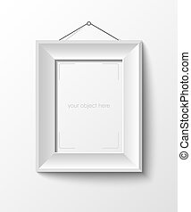 white frame for your photo