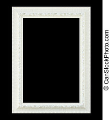 White frame isolated on black background