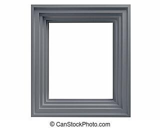 White frame isolated on white background