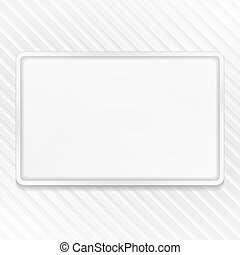 White Frame on Striped Background