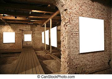 white frames among brick walls 4