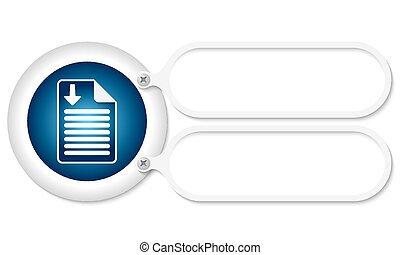 white frames and document icon and arrow