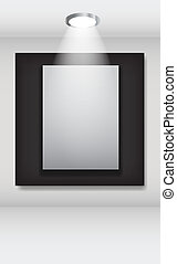 White frames in art gallery vector illustration