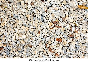 White fresh water stone on background.