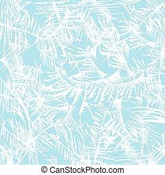 frost pattern - White frost pattern on a blue background