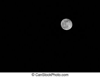 white full moon on a dark night without stars