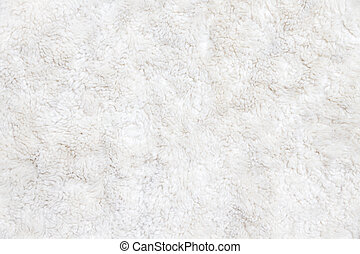 White fur background close up view