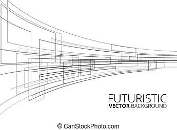 White Futuristic Sci-Fi Perpective Vector Background